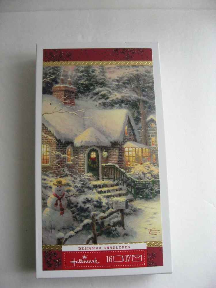 Hallmark Christmas Cards by Thomas Kinkade Boxed Set of 16 ...