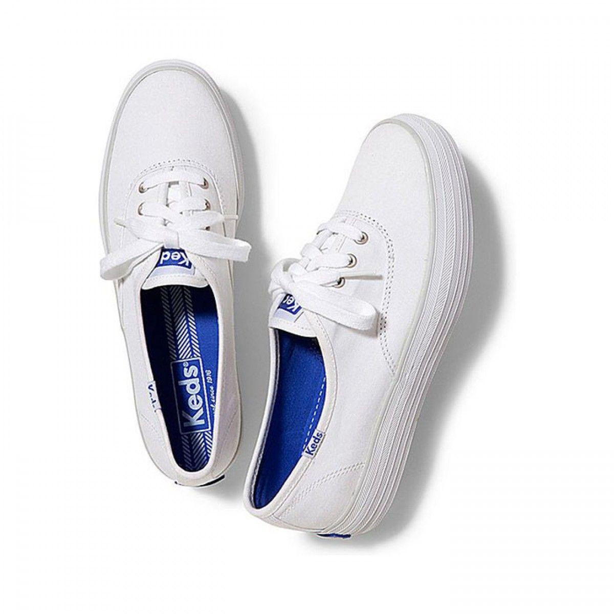 Womens Keds Shoes White Champion Triple Classic Canvas