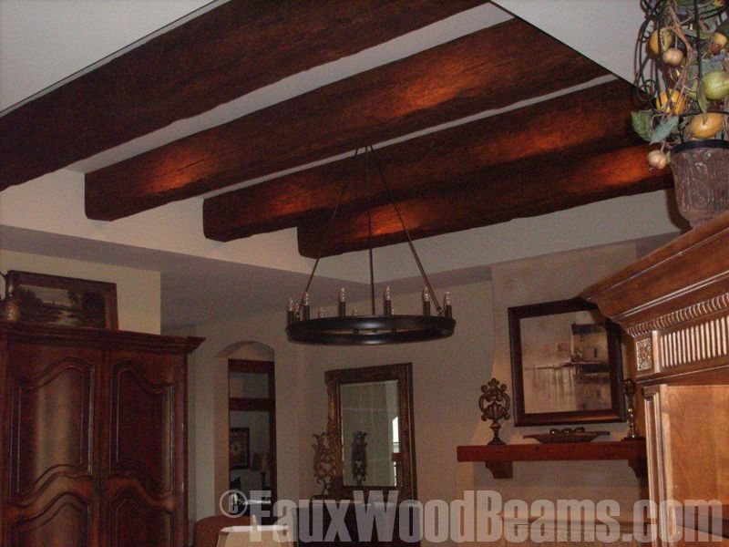 Faux beams faux timber beams ceiling design photos for Fake wood beams for ceiling