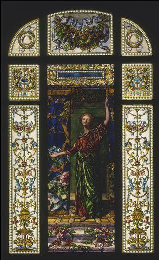 John La Farge (1835–1910)  Welcome window  New York City, 1909  Painted and leaded opalescent glass