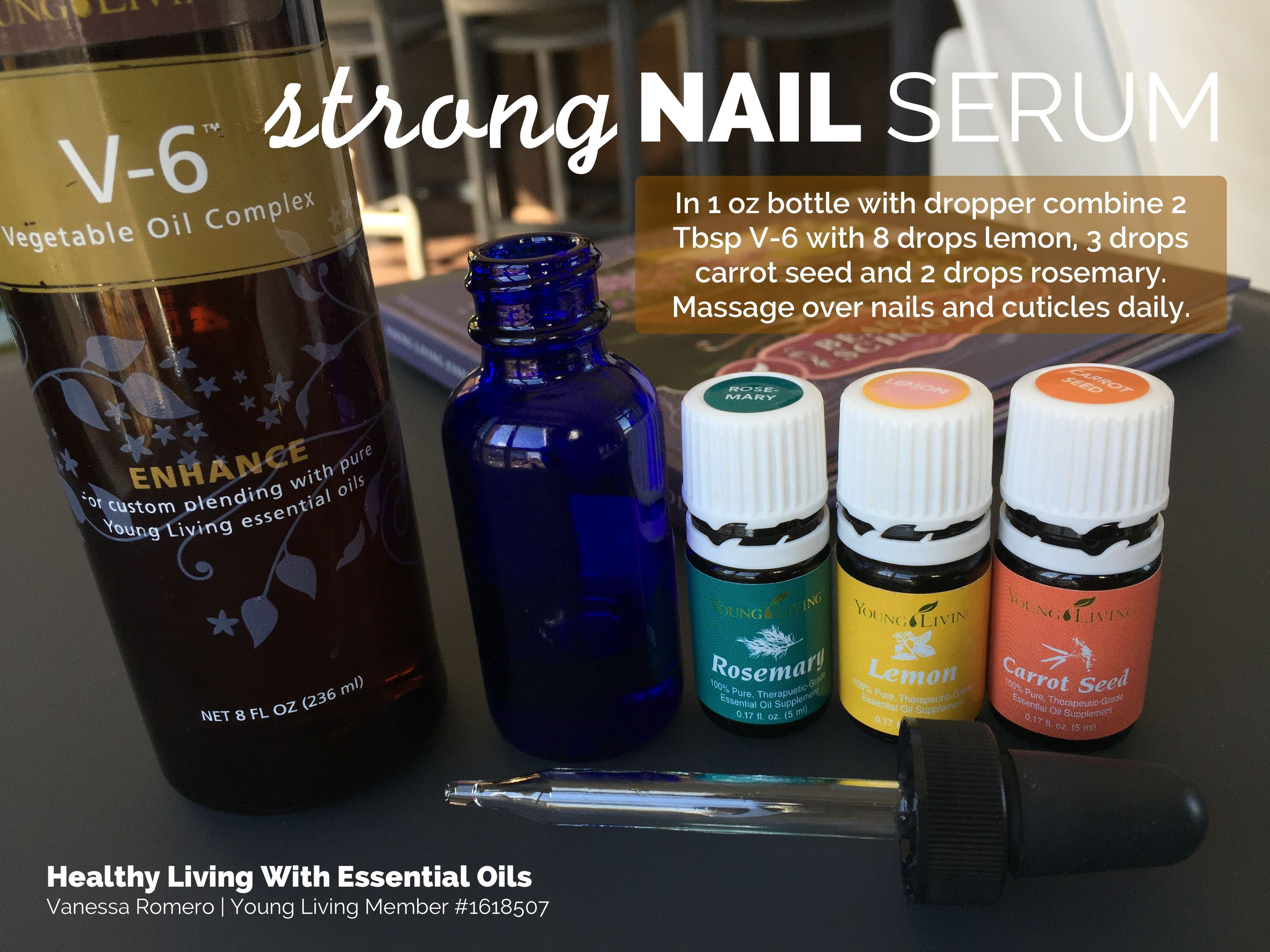 Strong Nail Serum | healthylivinghowto.com - YLEO Beauty DIY | Pinterest