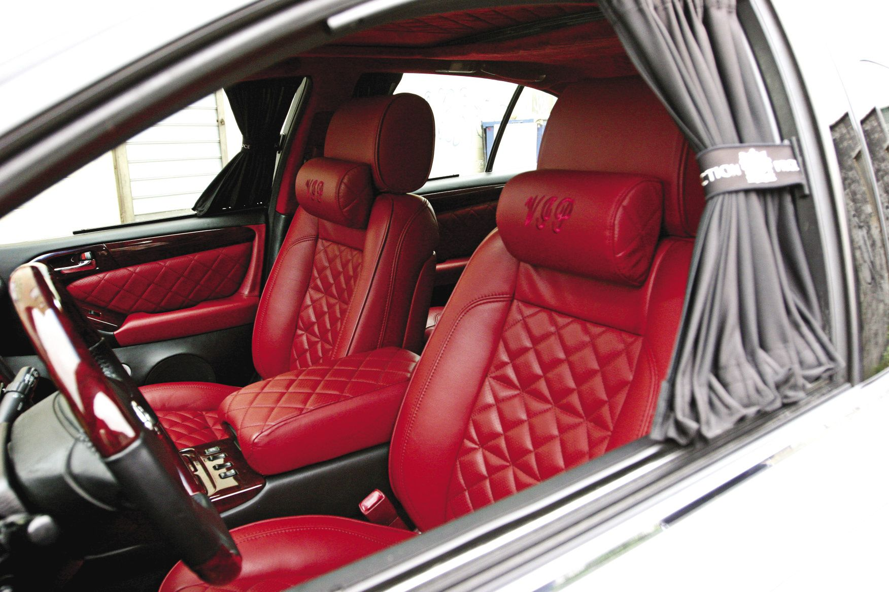red interior and cherry wood vip car pics and parts pinterest red interiors vip and lexus ls. Black Bedroom Furniture Sets. Home Design Ideas