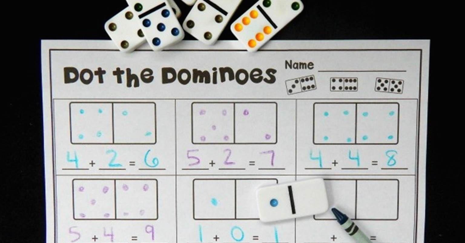 Domino Subtraction Worksheets For Kindergarten