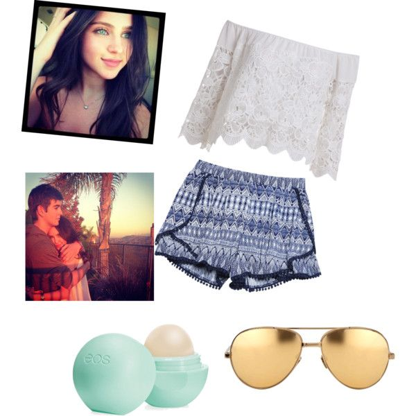 Ryan Newman and jack griffo!! My idols!! ❤️❤️❤️ by littlejlink on Polyvore featuring polyvore, fashion, style, Wet Seal, Linda Farrow and Eos