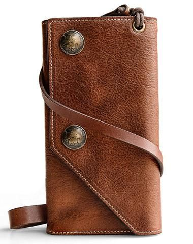Overview  Design  Biker Leather WalletIn Stock  Made to order (4-7  days)Include  Wallet and Chain(41cm)Custom  NoColor  Brown Leather  Full  grain ... c1ed0c36bc0