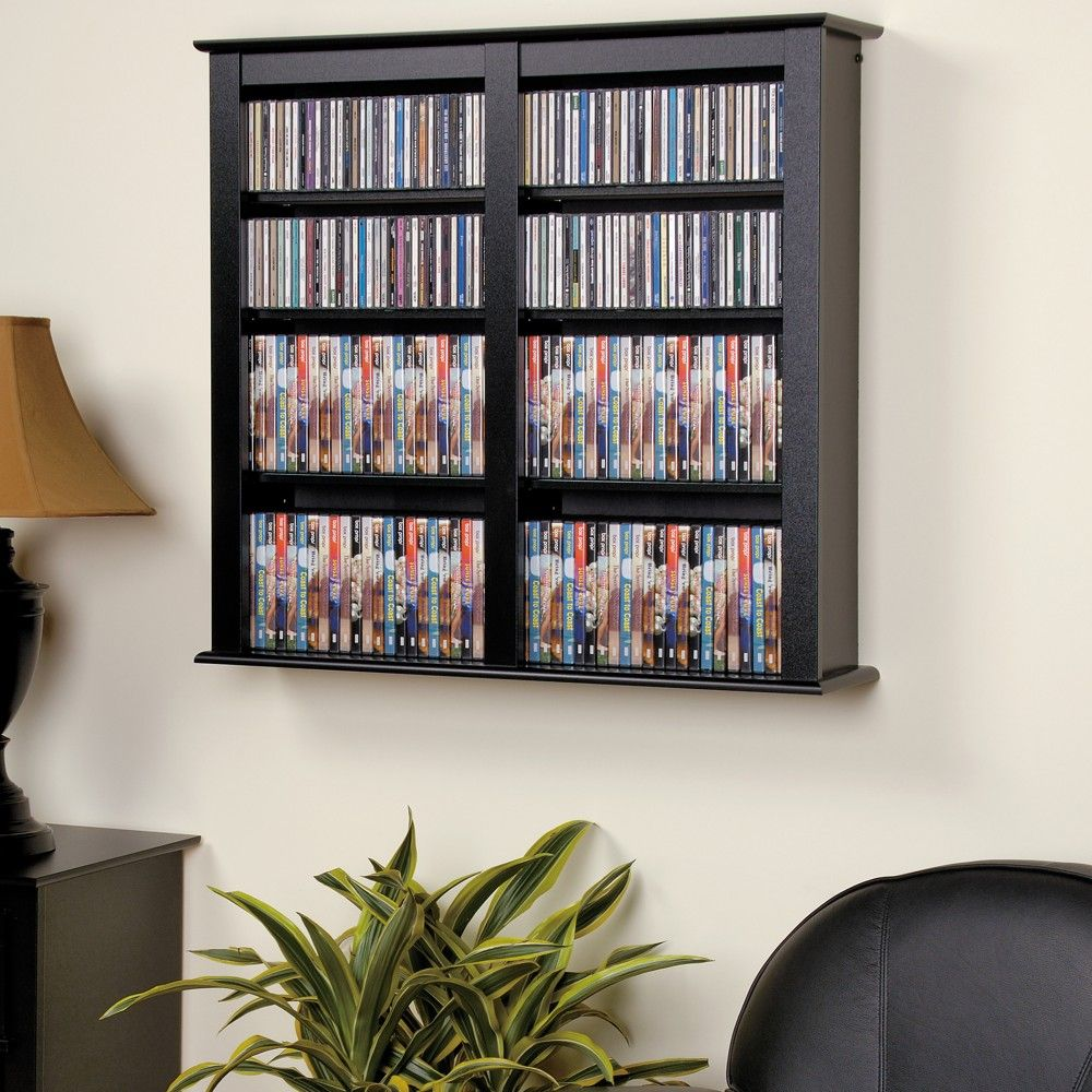 Double Wall Mounted Storage Black Prepac In 2020 With Images Wall Mounted Storage Shelves Wall Storage Cabinets