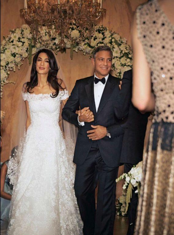 Amal Alamuddin And George Clooney Wedding Photos Hochzeitskleid Braut George Clooney Hochzeit
