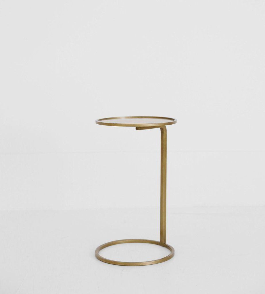 Small Circle Couch Side Table Brass Side Table Small Couch Brass Side Table