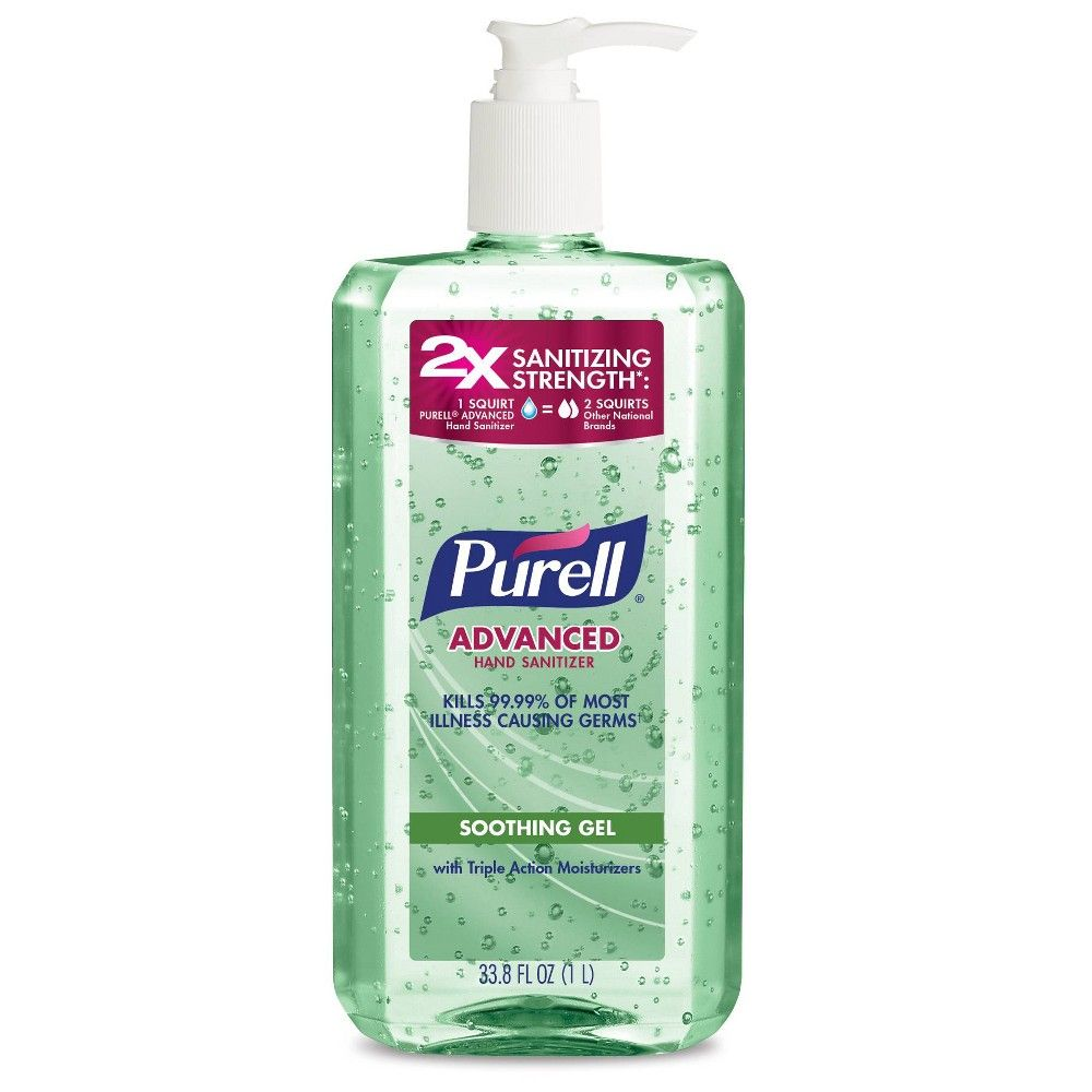 Purell Advanced Hand Sanitizer Refreshing Gel Pump Bottle 8 Fl