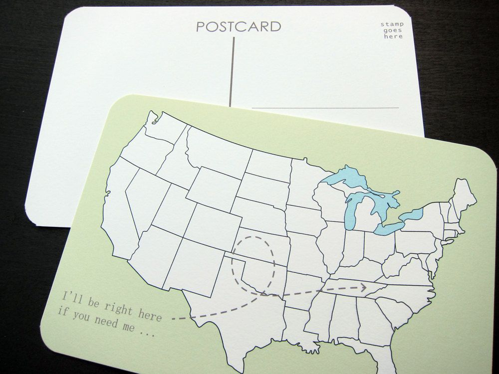 I'll Be Right Here: Set of 3 Postcards. via Etsy.