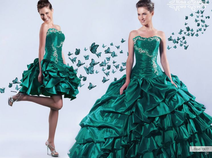 Vestidos De 15 Anos Modernos: Resultado De Imagem Para Vestidos De Xv Años Color Verde