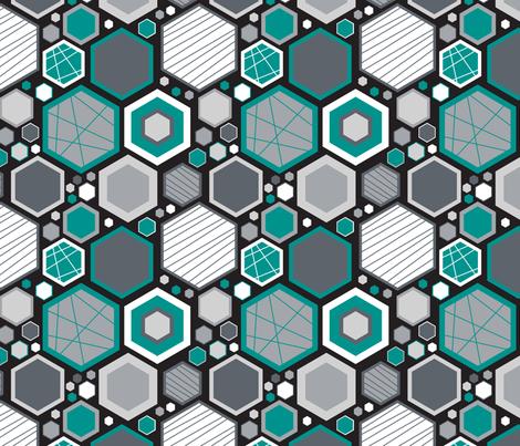 Hip Hexagons (Modern) fabric by brendazapotosky on Spoonflower - custom fabric