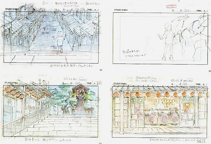Film: Spirited Away (千と千尋の神隠し) ===== Layout Design - Scene: Searching For Her Parents ===== Hayao Miyazaki