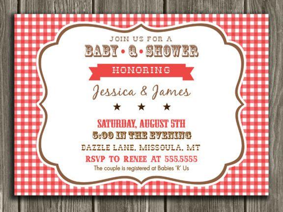 Printable Baby Q Baby Shower Invitation | BBQ Shower | FREE Thank ...
