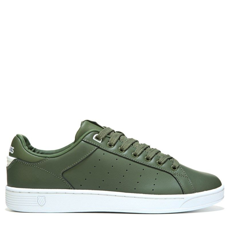 507d0910a26b K-Swiss Men s Clean Court Cmf Sneakers (Olivine White) - 11.5 M
