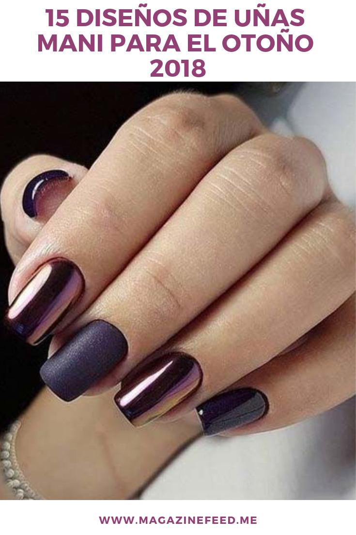 15 Diseños De Uñas Mani Para El Otoño Manicura De Uñas