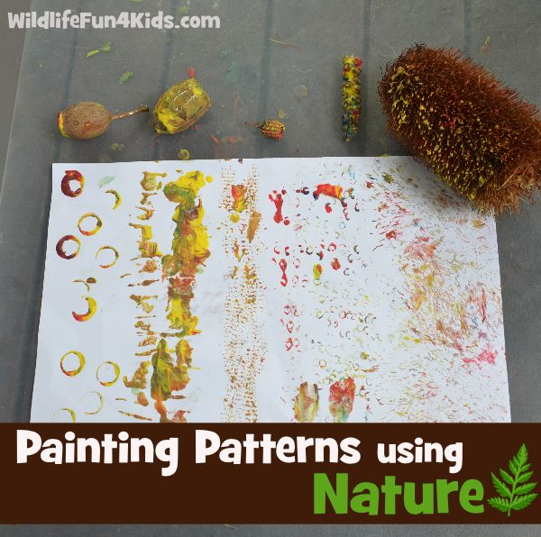 Nature Craft: Painting Patterns using Nature from Wildlife Fun for Kids