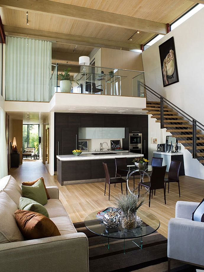 Modern House With L Shaped Architecture Design In California By Butler Armsden Architects Home Interior Design Loft House House Design