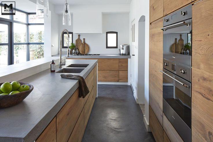 Gietvloer passend bij keukentrends home küche