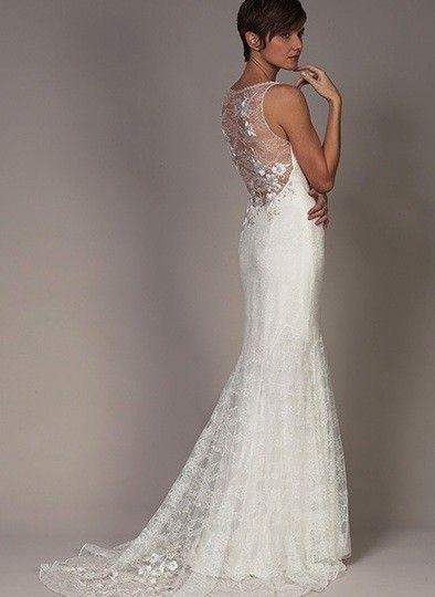 Detailed Back Wedding Dresses