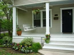 Front Porches With No Railing Rustic Front Porch Front Porch