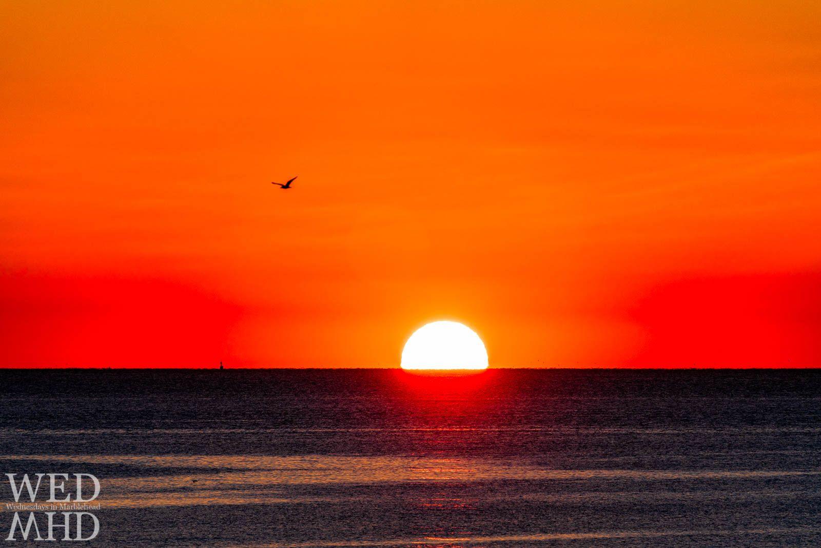 Ocean Sunrise Marblehead, MA Sunrise, Ocean horizon