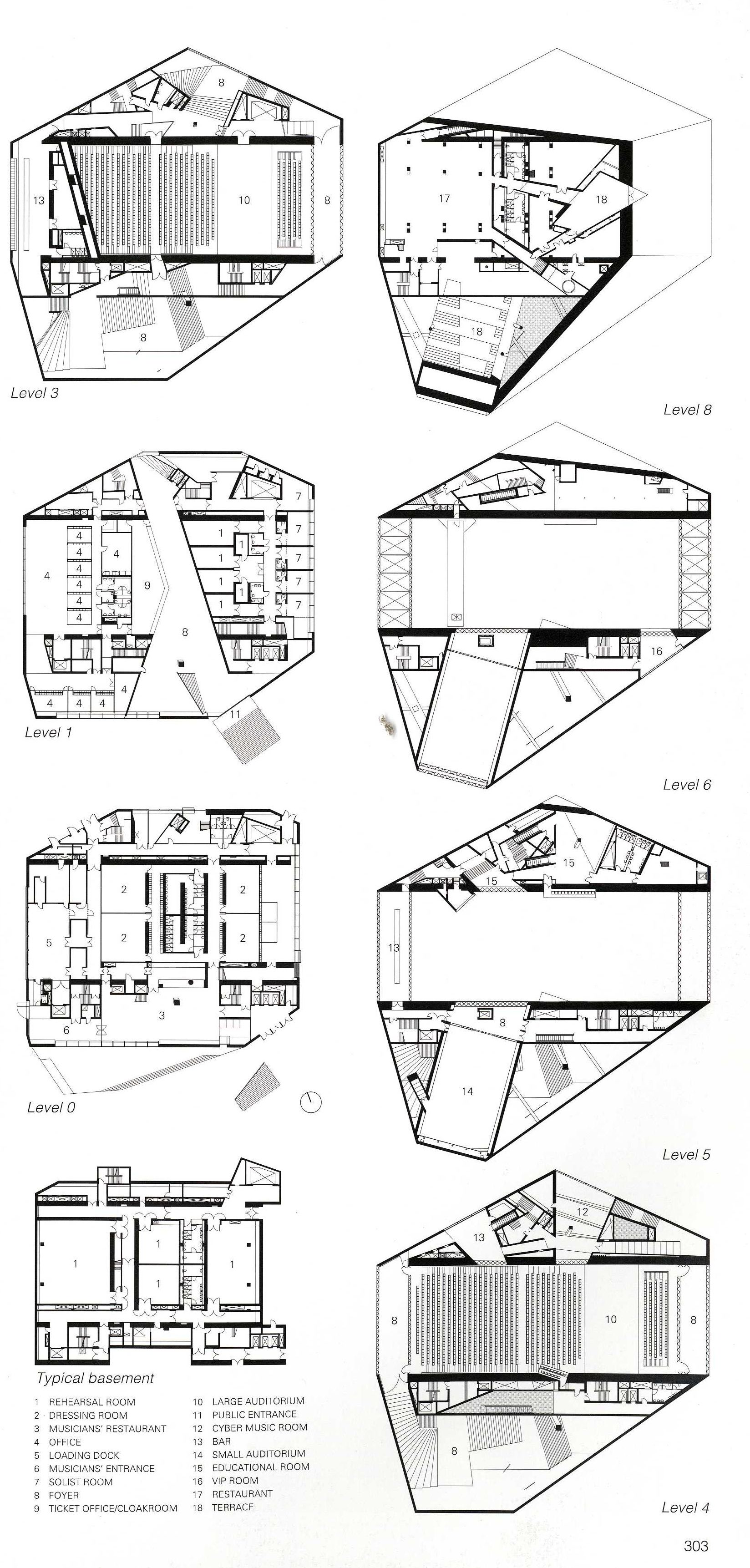 architectural plans concert hall architectural plans sections architectural plans concert hall