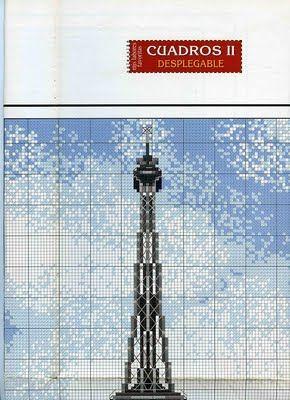 Patrones y esquemas gratis: la torre eiffel
