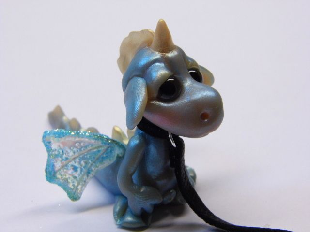 """OOAK Handmade Polymer Clay Pet Dragon """"Chezz"""" by Woodlandkreatures, via Flickr"""