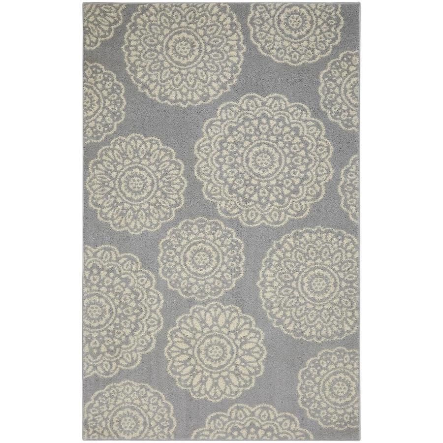 Mohawk Home Millwood Grey Starch Indoor Area Rug Common 10 X 14 Actual 10 Ft W X 14 Ft L V199 18431 120168 In 2020 Geometric Area Rug Area Rugs Indoor Area Rugs