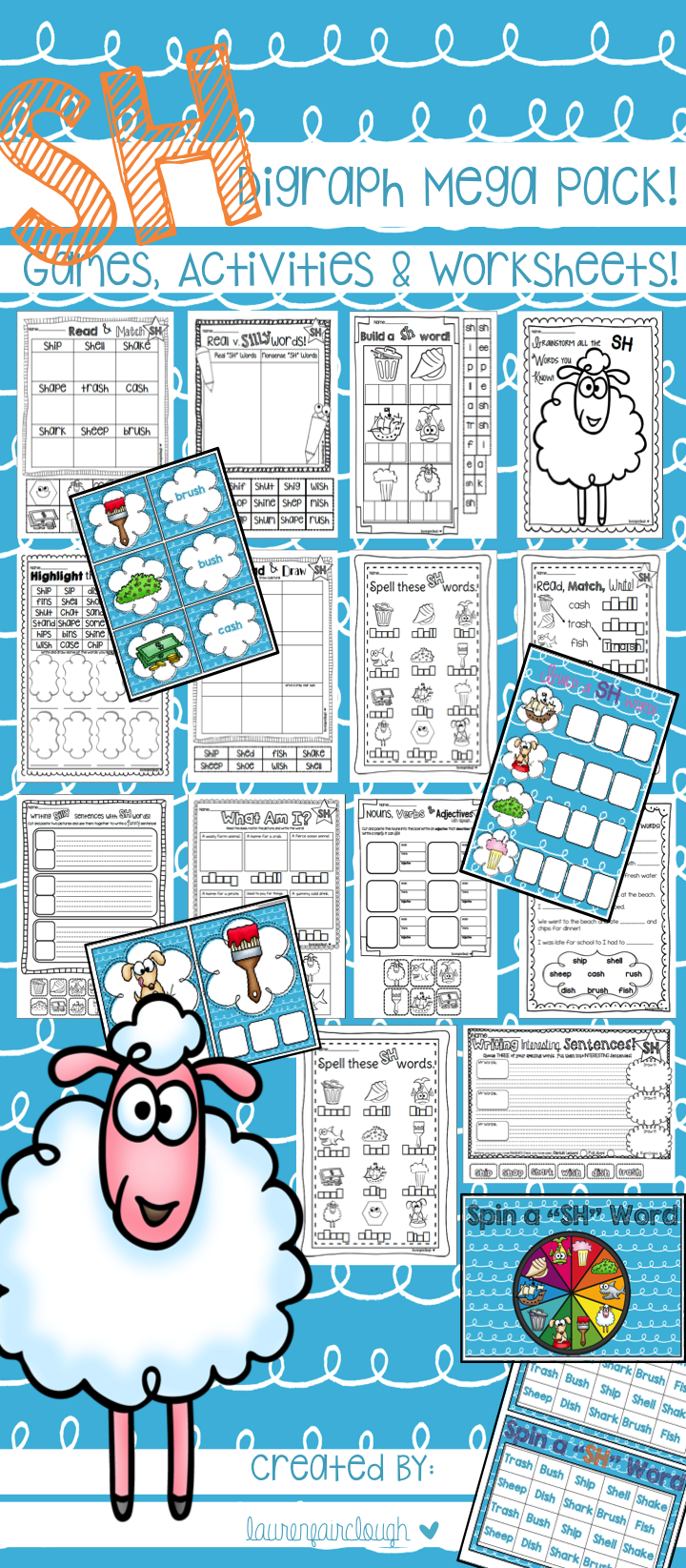 Digraph SH Word Work Pack   Word work, Worksheets and Activities