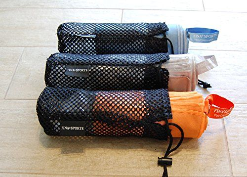 Camping Towels - FINA Sports Microfiber Ultra Absorbent Compact and Fast Drying Towel withCarry Bag and OpenClose SNAP for Gym Yoga Camping Hiking and any Sports Activities Best Value Guaranteed ** Click image for more details.
