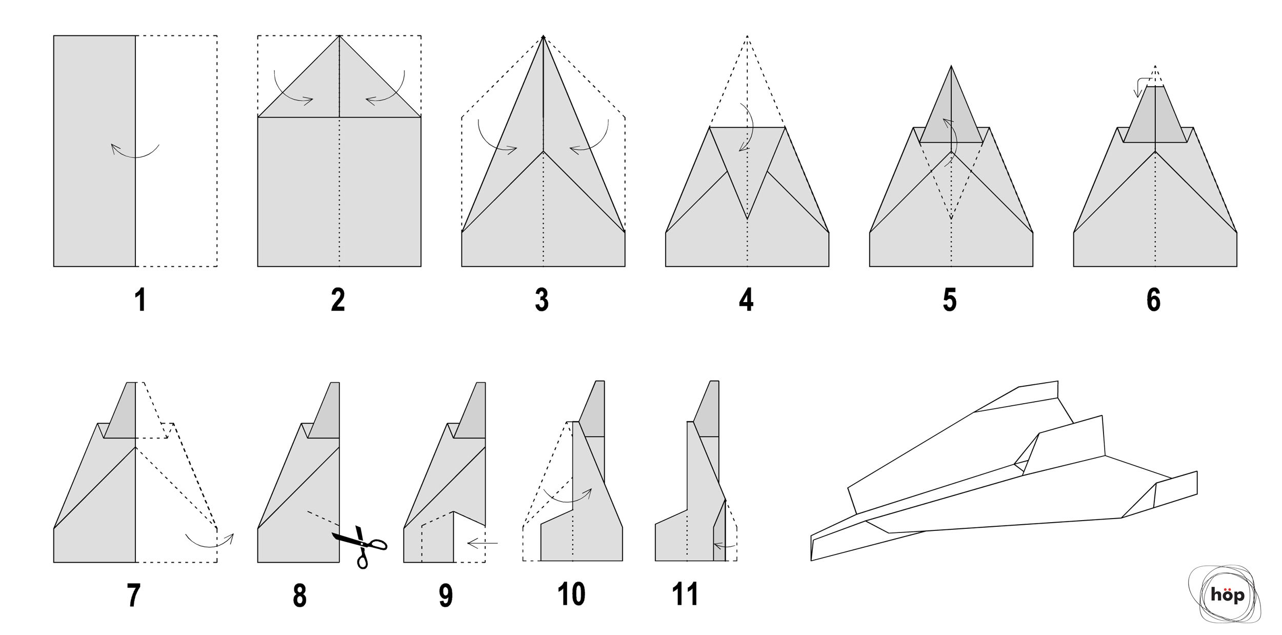 How To Make A Paper Airplane Jet That Flies Far Step By Step