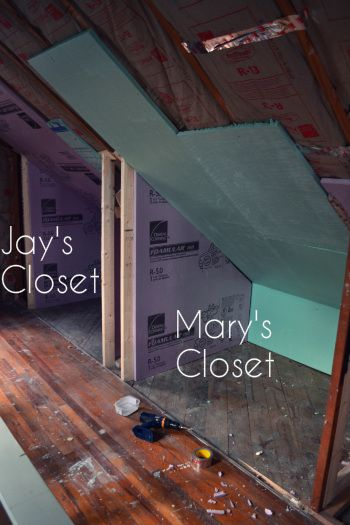 Adding Closets To Attic Knee Wall For The Home Attic