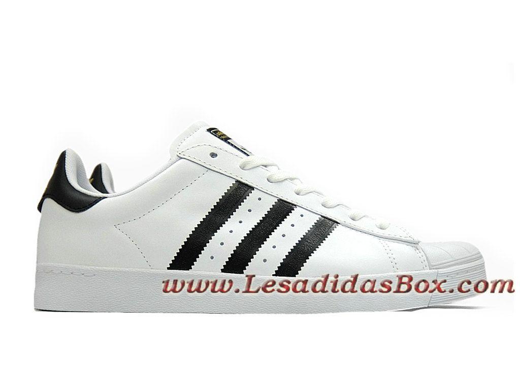 Adidas HommeFemme Chaussures Superstar Vulc ADV Blanc