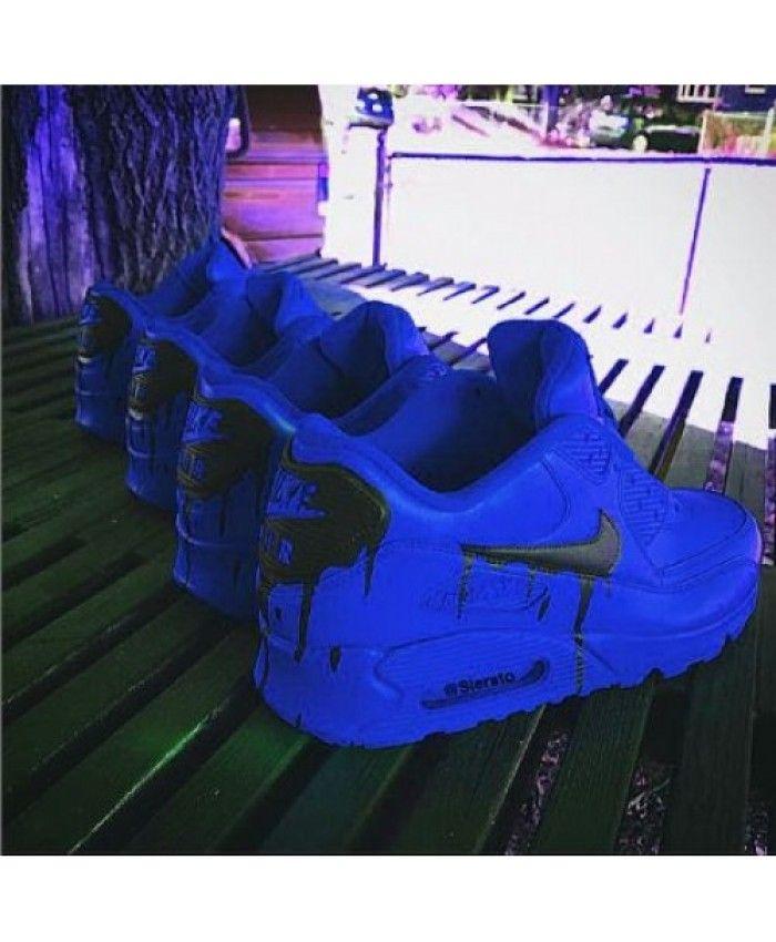 Chaussures Nike Air Max 90 Candy Drip Profonde Bleu France