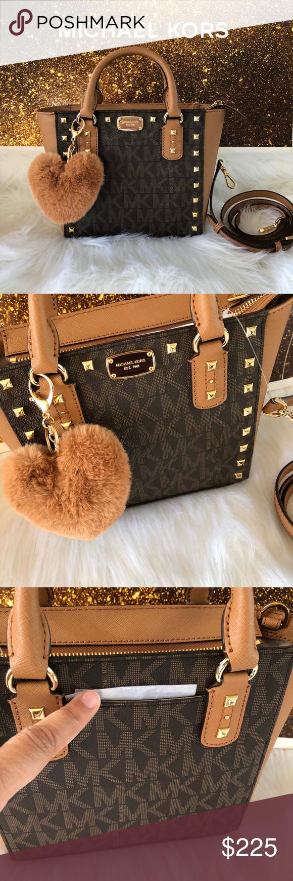 1fd7481900f2 Spotted while shopping on Poshmark  New Authentic MK Sandrine Stud crossbody  bag!  poshmark  fashion  shopping  style  Michael Kors  Handbags