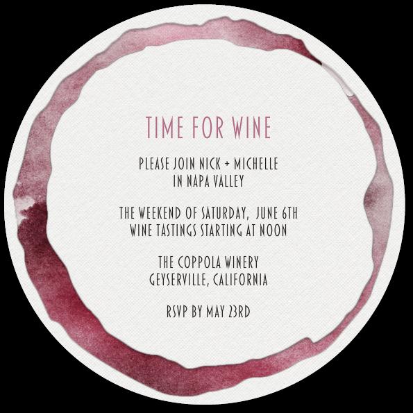 time for wine coaster invitation party pinterest invitations
