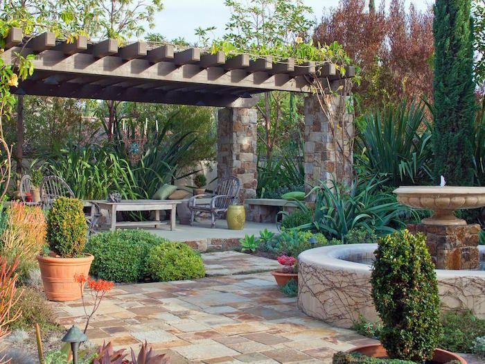 jardin méditerranéen idée deco design patio espagne decoration ...