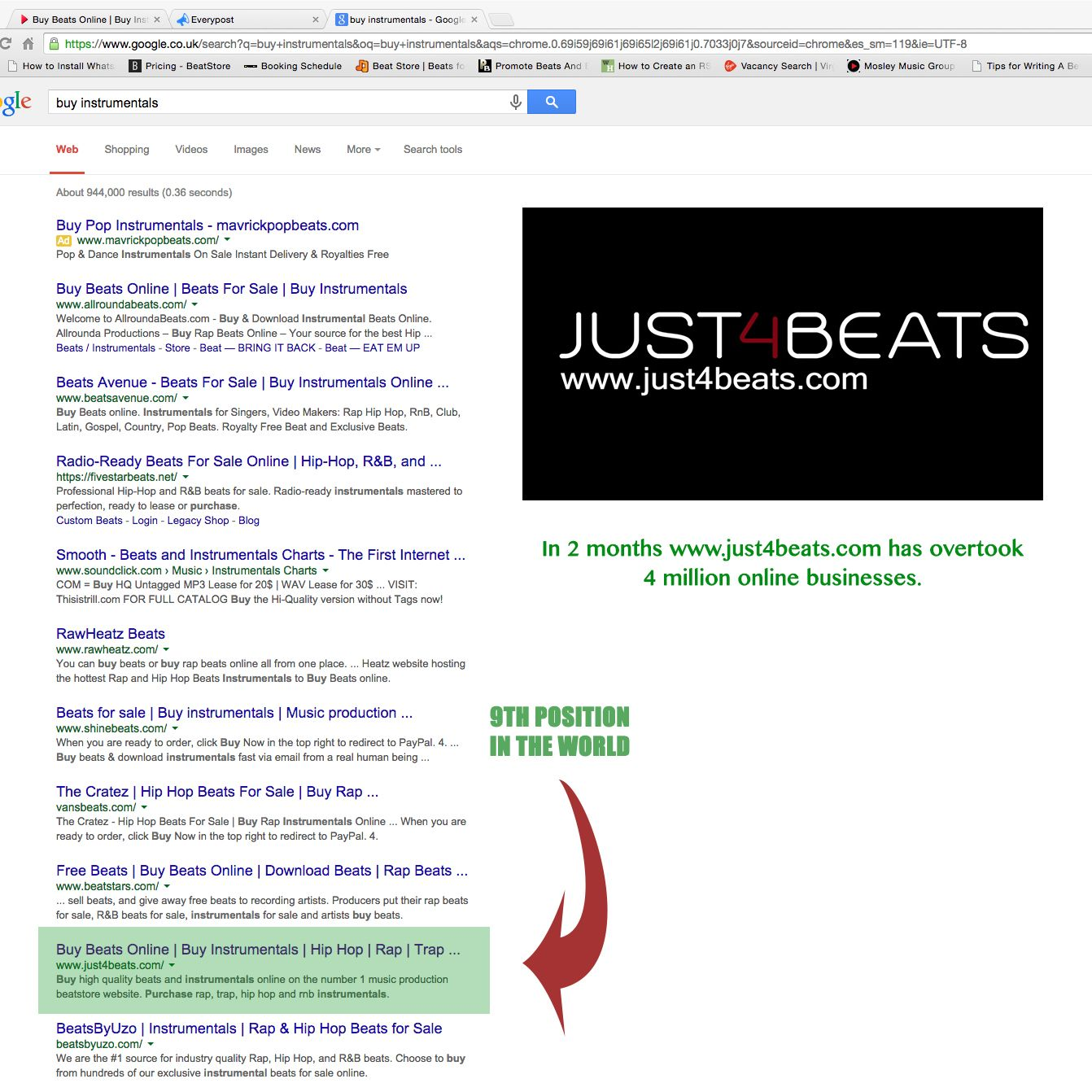 www just4beats com professional music production website is