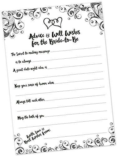 Robot Check Bridal Shower Advice Bridal Shower Advice Cards Wedding Advice Cards