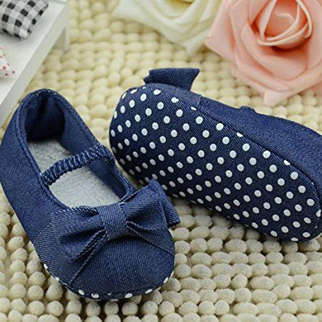 Baby Girl Soft Sole Denim Colth Shoes