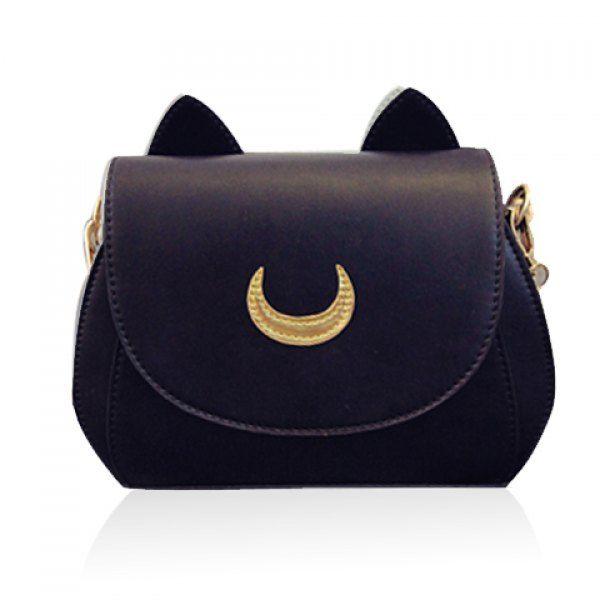 18d202d69 Sweet Moon Print and Ear Pattern Design Women's Crossbody Bag (BLACK) in Crossbody  Bags   DressLily.com