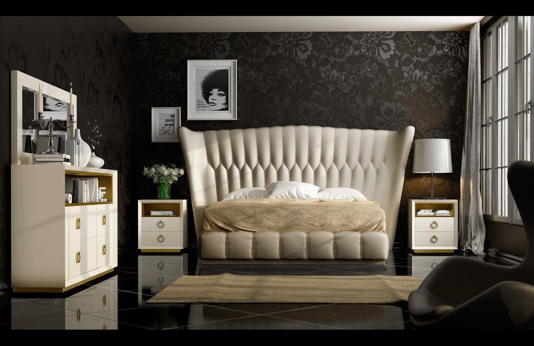 Made in Europe bedroom set. Show your love for superior design