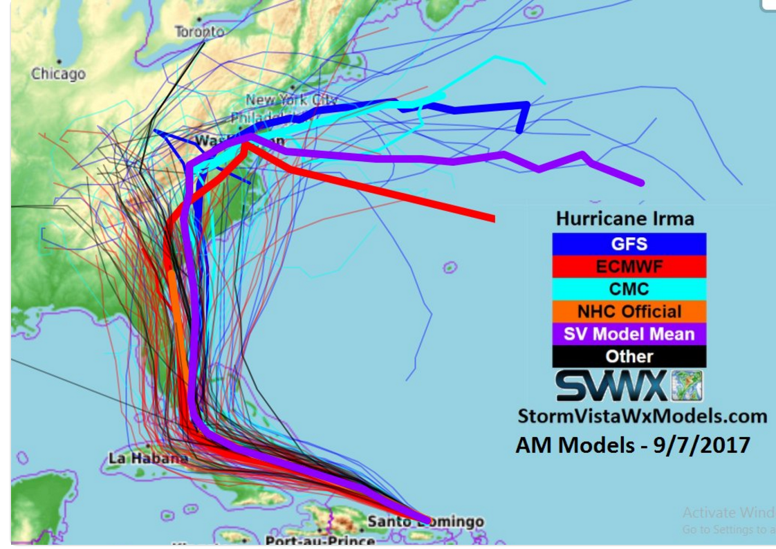 Hurricane Irma Path Update Latest Map From The Noaa S Nhc Noaa Hurricane Weather Models