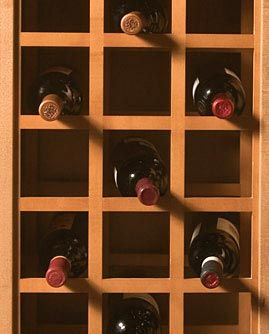The Hardware Hut - Product #OME-L3220MUF9 - Omega National 24in. x 43in. Sonoma Wine Bottle Rack - PAIR (Unlacquered Maple) 124