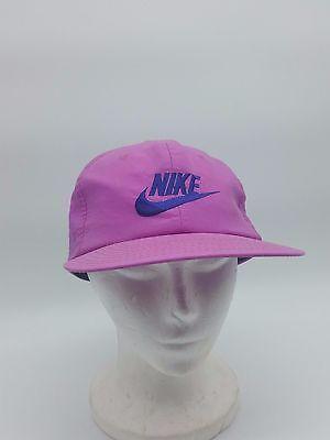 c129aabb661 Vintage Nike Solid Purple Neon 80s 90s Spellout Logo Snapback Hat Cap  Taiwan ROC
