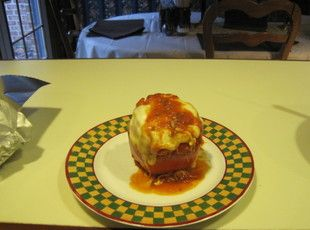 Rose's Italian Stuffed Red Peppers Recipe | Just A Pinch Recipes