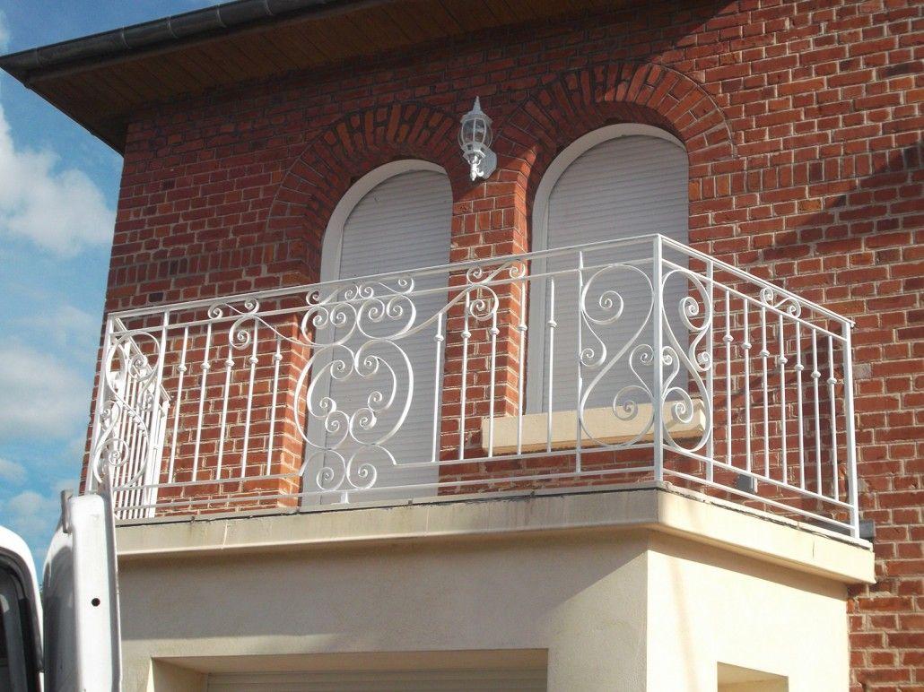 Balustrade clôture balcon rouille style antique fer rampe d'escalier Volets anciens Art et antiquités