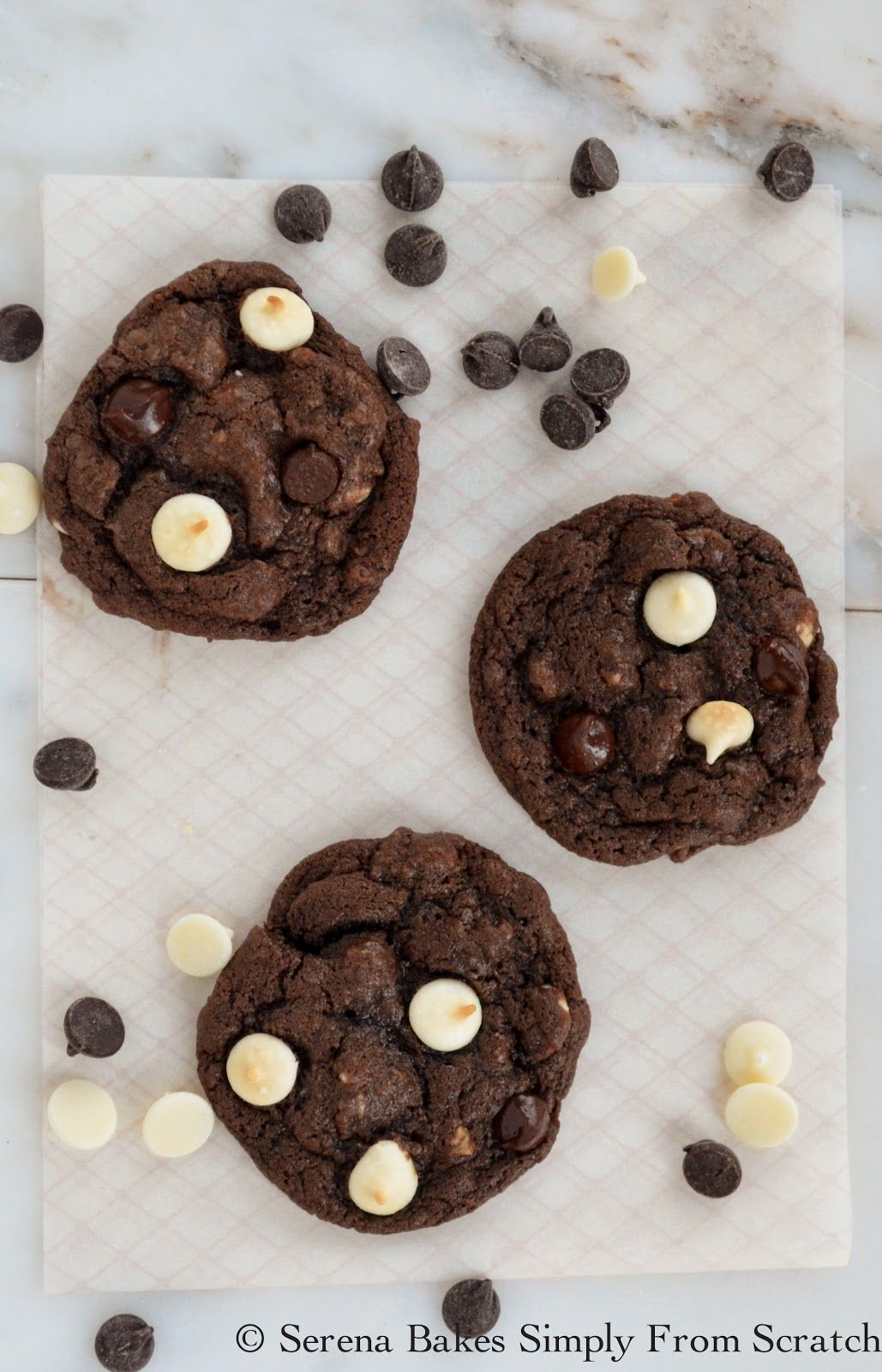 Serena Bakes Simply From Scratch: Double Chocolate Chip Cookies